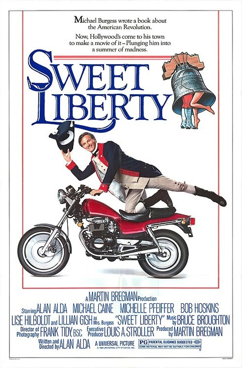 Sweet Liberty (1986) Pros: Michael Caine and Michelle Pfeiffer show their considerable comedic talents in this Alan Alda magnum opus, and Caine particularly mines a rich seam as the philandering, larger-than-life British lead of the movie-within-a-movie. As an actor who had many a low point in his career both before and after 'Sweet Liberty', his performance here is one of the better ones (certainly equal to his work in 'Dirty Rotten Scoundrels' and possibly better than 'Water' and 'Without A Clue'). The remainder of the cast are all quite solid, with Bob Hoskins another Brit who upstages his American colleagues. Alda is possibly the weakest leading actor but he is still pleasant enough. It's also fun (if not rewarding from a performance point of view) to see Lillian Gish in her penultimate movie role. For a relatively small film from the 1980s with not much of a reputation for huge box office or critical success, 'Sweet Liberty' is still quite charming and effective as a romantic comedy. It's a movie that works very well on the small screen, and would be worth viewing for anyone interested in the careers of the leading cast members or the 'film-within-a-film' genre. Cons: Alan Alda takes on an almost Woody Allen-esque role with 'Sweet Liberty', writing, directing and starring as the main character, and unfortunately his talents are not broad enough to sustain all three activities. Coming very soon after the end of his career as Hawkeye Pierce in 'MASH', Alda struggles to emerge from underneath that persona. Also, his partner in the movie as played by Lisa Hilboldt loses out rather badly to Michelle Pfeiffer…it seems a little unsatisfactory that Alda and Hilboldt are out-performed by the supporting actors. As a satire on the movie industry or the bastardisation of the creative purpose for commercial reasons this is a very mild film. 'Sweet Liberty' is no 'Barton Fink' or 'The Player'. Final Rating:  2 out of 5 Bill Collins