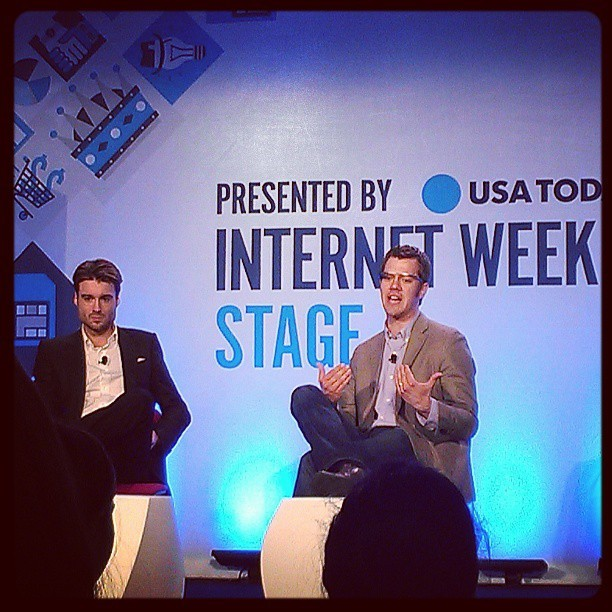 Mashable's CEO and CTO talking about Google Glass at #iwny