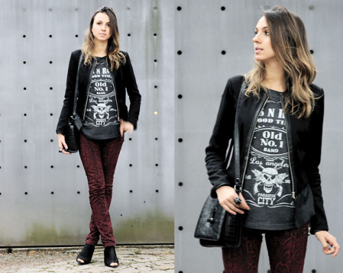 Snake Print & T-shirt (by Ivi C.)More on: www.styleupdate.com.br