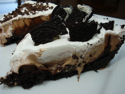 Oreo Triple Layer Chocolate Pie by Yummies 4 Tummies on Flickr.