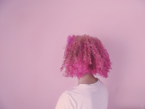 pink curly hair tumblr