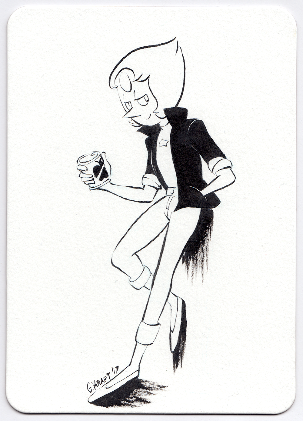Bad Pearl for a brush pen commission.