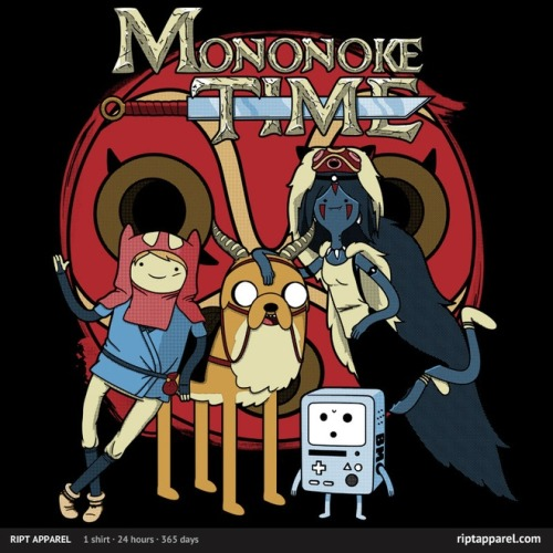gamefreaksnz:  Mononoke Time by RebelArt US$ 10 for 24 hours only Artist: Facebook | Redbubble | Tumblr