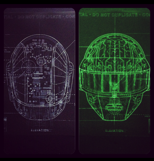 syfycity:  From the Daft Punk RAM Booklet (cut, collaged, and filtered)http://syfycity.tumblr.com
