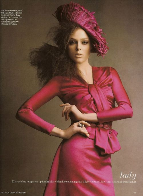 seaborder:  'The Collections', Coco Rocha by Patrick Demarchelier, Vogue UK, August 2007  John Galliano for Christian Dior Fall Winter 2007 Ready to Wear