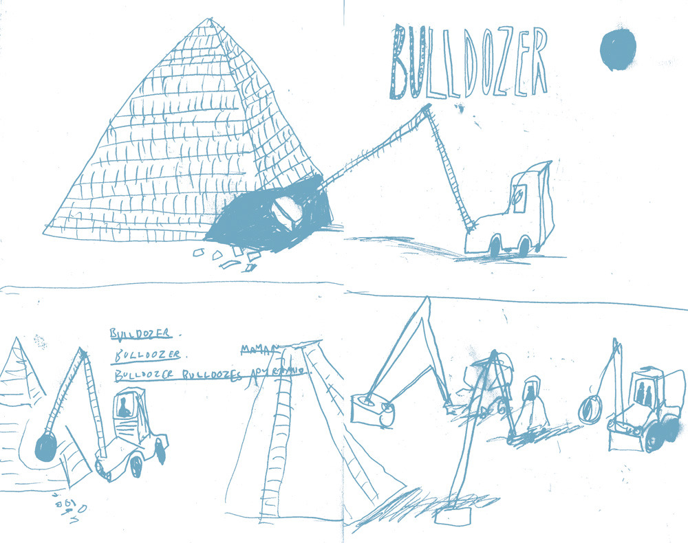 Mayan Pyramid being bulldozed comic.