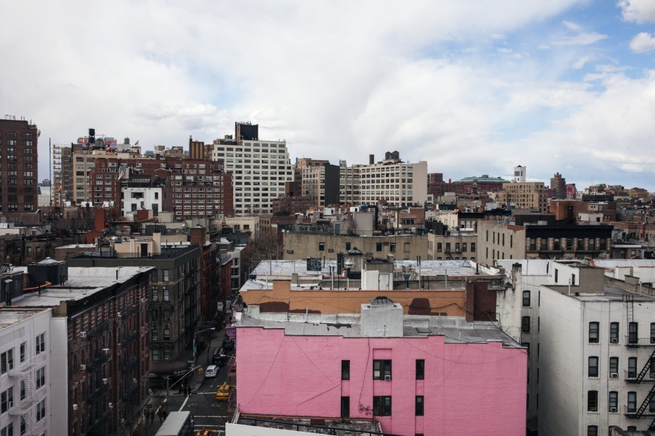 View over Soho, NYC - the neighbourhood of Dean Di Simone.  Photography by Brian W. Ferry.