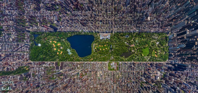 explore-blog:  Striking panoramic aerial view of NYC's grid by photographer Sergey Semenov, one of the winners of this year's Epson International Photographic Pano Awards. Complement with the story of how NYC got its famous grid.