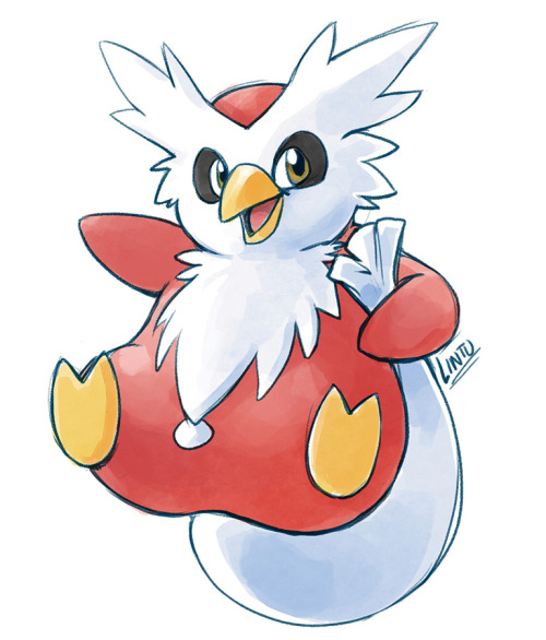 My favorite ice type is Delibird. It's also my favorite pokemon ever, and always will be. Delibird turned out to be a huge part of my childhood for a million reasons, and I can't imagine what it would have been like if this character didn't exist.