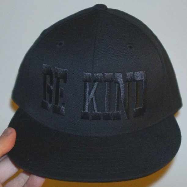 very happy about my new BE KIND cap. Thx to #Kindness & @terriblerecords