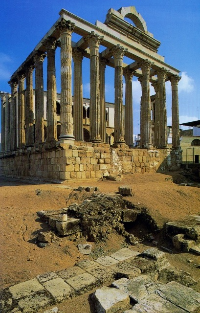 thatdavidwalshguy:  Temple of Diana at Merida, Spain. Constructed late 1st century AD