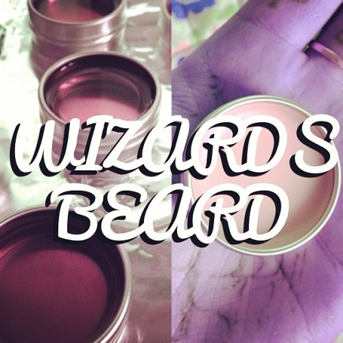 Would like to introduce…. WIZARDS BEARD!!! Palma Violet scented moustache wax! Really please with this one! @pieandvinyl #satanstashwax #pieandvinyl