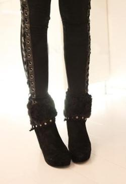 These gorgeous faux fur boots are now £21.00! Shop  Annual Clearance Sale at https://marketplace.asos.com/listing/boots/annual-clearance-sale-melville-rose-faux-fur-wedge-boots/648025  Limited time only!