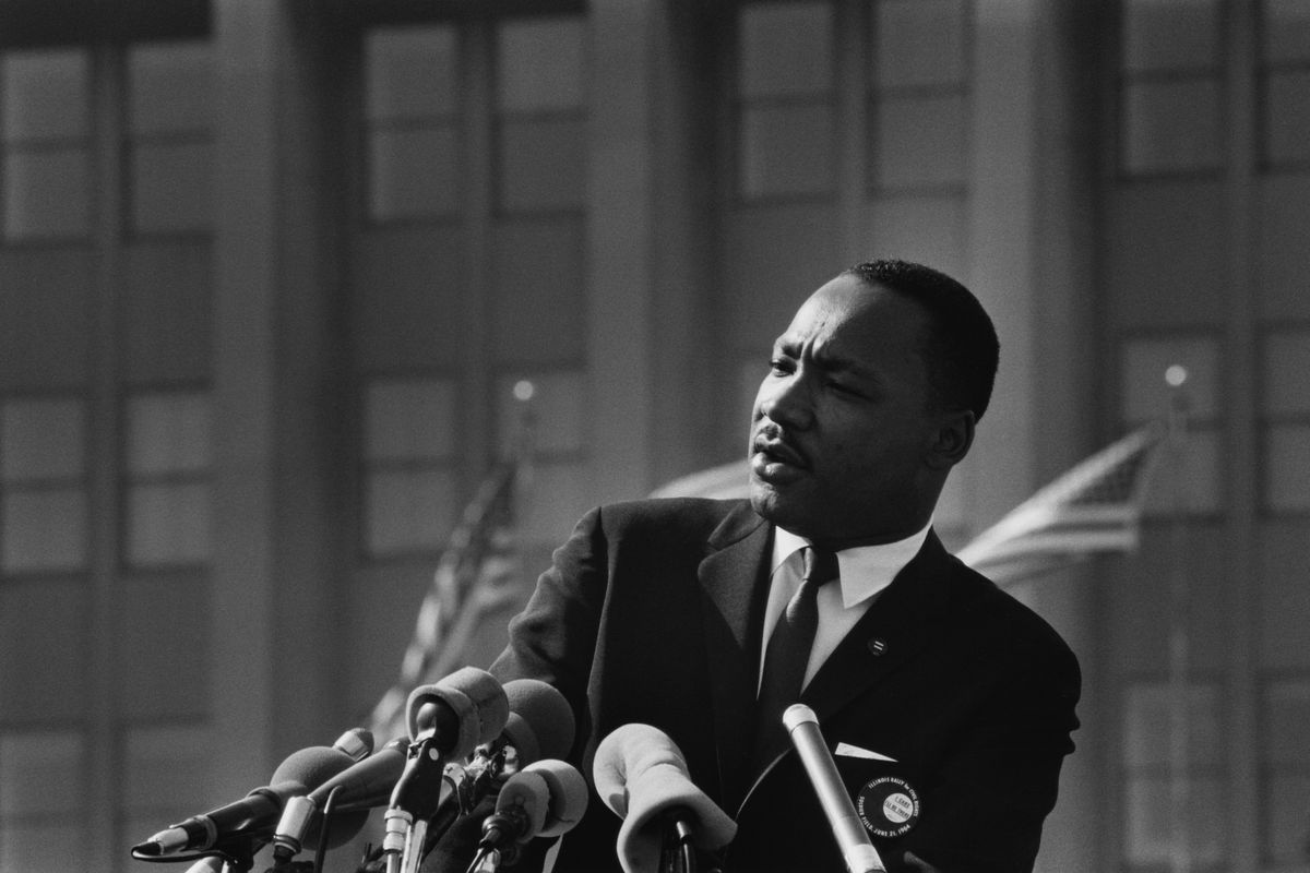 Dr. Martin Luther King Jr., Illinois Rally for Civil Rights, Soldier Field, Chicago, Illinois, June 21st 1964.
