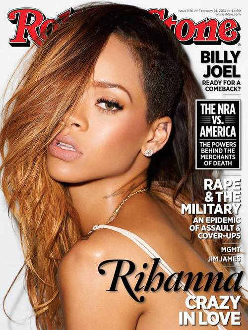 Rihanna on the February 2013 cover of Rolling Stone Magazine, photographed by Terry Richardson.