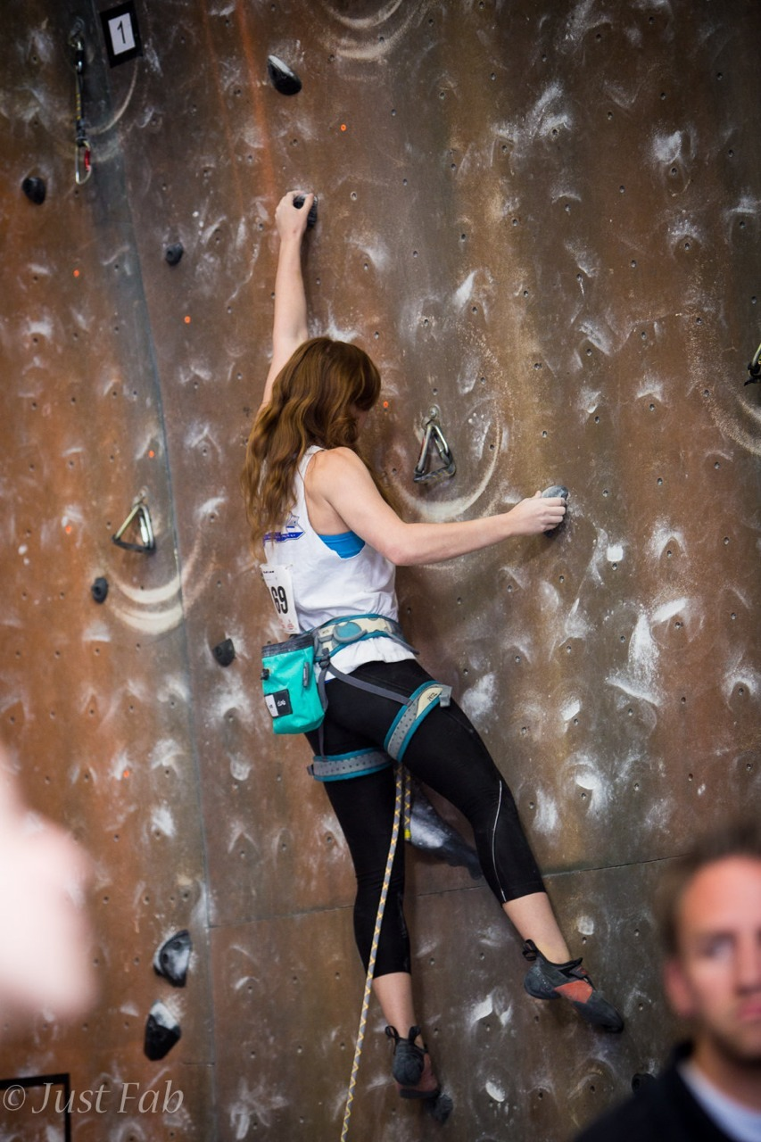 Tip toe climbing: the way I'm climbing 90% of the time because route setters don't usually set for 5 foot tall 17 year olds.