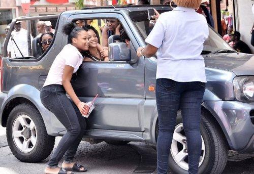 Rihanna in Barbados.