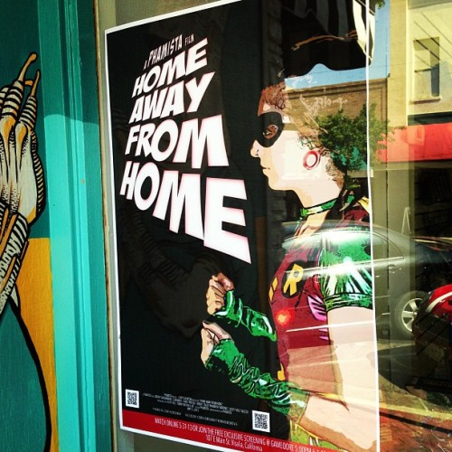 #HomeAwayFromHome posters are now up around town. 21 days! #film #sdcc #comiccon #documentary #cosplay #gameqore (at Gameqore)