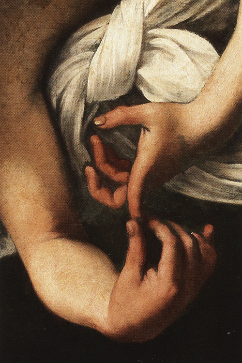 sophistae:  Caravaggio, Saint Matthew and the Angel (second version; detail), 1602