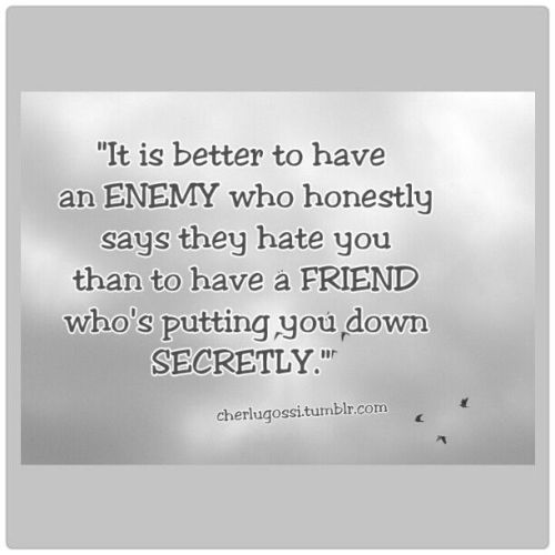 An enemy or a friend? #picturequotes #quotes #photos #sayings cherlugossi.tumblr.com
