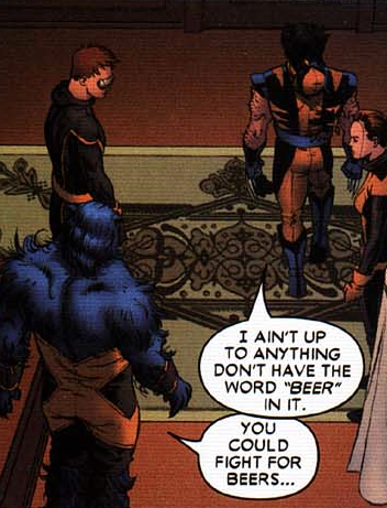 drunkwolverine:  Drunk Wolverine gets sleepy sometimes.  Drunk Wolverine is my role model.
