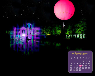 Here's February's desktop calendar folks, and it's one of our faves. Countdown to Latitude in style - right-click to set as your background now x