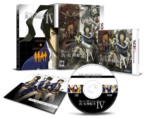 First Prints Of Shin Megami Tensei IV Will Be Limited Editions The first printing of SMTIV has recently been announced to include some special goodies that will be unavailable for those who do not pre-order (or just get really lucky).  Exclusive to the first printing, Shin Megami Tensei IV will be a Limited Edition Box Set. In addition to the game, customers will receive a 176-page Strategy & Design Book that includes the official starter strategy guide and artwork ranging from concept art to in-game pieces to never-used designs from the new Shin Megami Tensei series character designer, Masayuki Doi. They will also receive the Shin Megami Tensei Music Collection CD that offers a collection of tracks specially selected from across the 20-plus-year history of the SMT series. All this will be housed inside a deluxe-sized Collectible Slipcase featuring key art designed by Masayuki Doi.   All of this for only $49.99 and one of the most anticipated RPGs of the past decade! Check out where you can pre-order the game here, and make sure you reserve your copy before it's too late!
