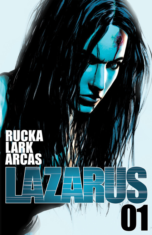 The cover to LAZARUS #01, by Michael Lark. The first issue will be released in late June. Share, and enjoy.
