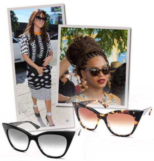 EYE SPY: Beyonce and Kourtney's SunglassesCall me crazy, but I've been feening for a pair of cat eye sunglasses, but they need to big enough…View Post