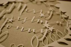 rhiainbower:  paper cut card on Flickr.