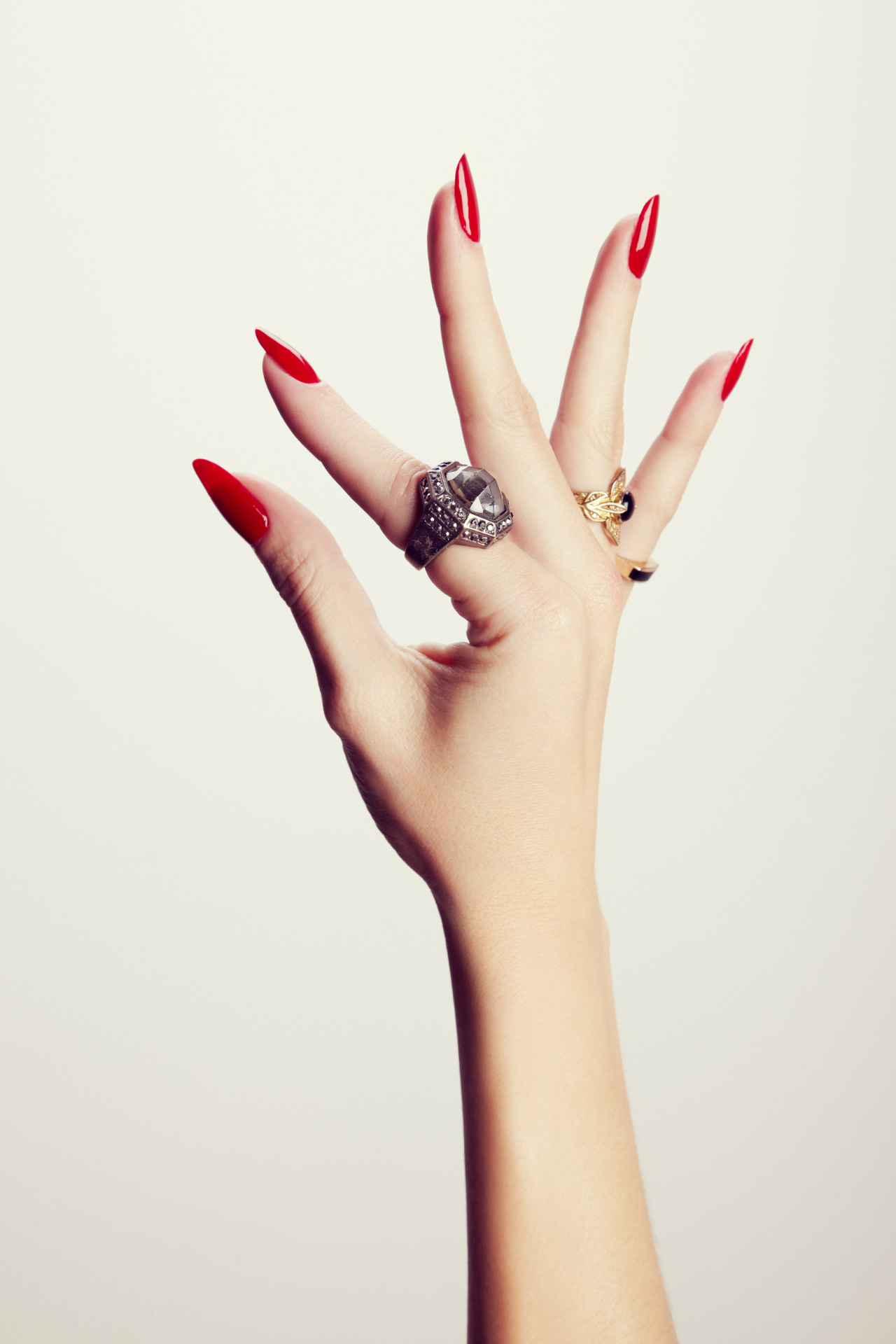 "madelinepoolenails:  2 of my favorite images from NY Magazine The Cut, the great hands of hand model Ashley Frey, photographed by Dawn DiCarlo and Art Direction & Set Design by Natalie Shriver She's wearing Chanel ""Pirate"""