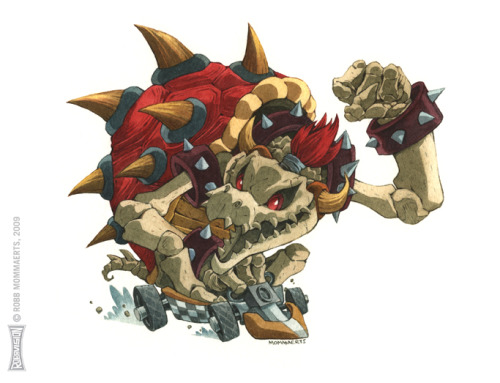 suppermariobroth:  Dry Bowser: Mario Kart collab by *RobbVision