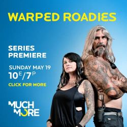 officialwarped:   Our official reality television show,Warped Roadies, Premieres in Canada on May 19th at 7pm PST/10PM EST. Make sure to tune in to check out all the roadie madness before this summer's tour!!!  i love this show, this is my dream job