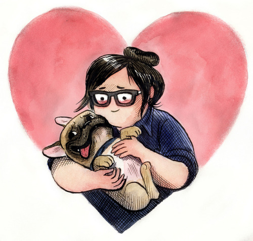 singingbones:  huffing love on Flickr.  I LOVE THIS DRAWING OF MY FRIENDS LAURA & WALT BY MY FRIEND LAURA!!!!