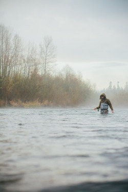 lizdevine:  Jeff on the River Clackamas River, OR - March 2013 My good friend Jeff Hickman is a steelhead fly fishing guide and he is really great at what he does. It was amazing to spend a day on the river with him shooting photos.  Check him out at Fish the Swing.