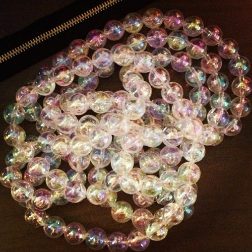 #runway6 teaser. Just finished the stacked bubble necklace for my dearest, @smarievilla91. Runway 6.0 is this Saturday, get your tickets now! 😊