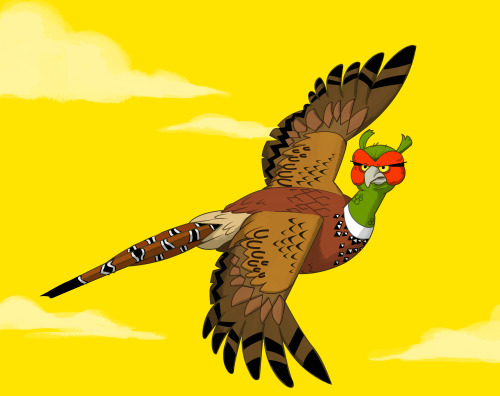 "Unpleasant Pheasant for the topic ""flight"""