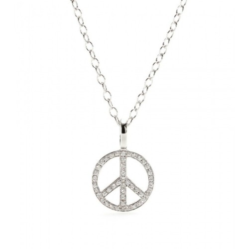 Cada necklace   ❤ liked on Polyvore (see more peace sign jewelry)