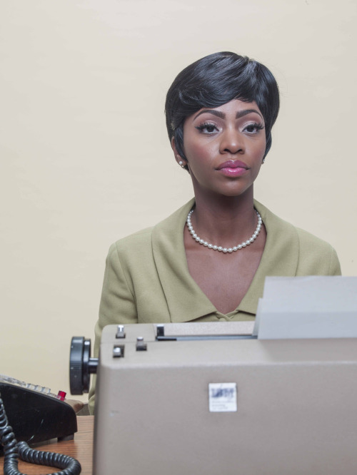 imaphotoeditor:  my favorite thing about Mad Men is that Don's new secretary is named Dawn. Jeff Minton photographed Dawn (aka actress Teyonah Parris) for last week's magazine story about the decline of the america secretary.    Photo editor: alis atwell story: Where have all the secretaries gone?