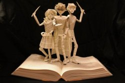 si5en:  Harry Potter Book Sculpture by ~wetcanvas