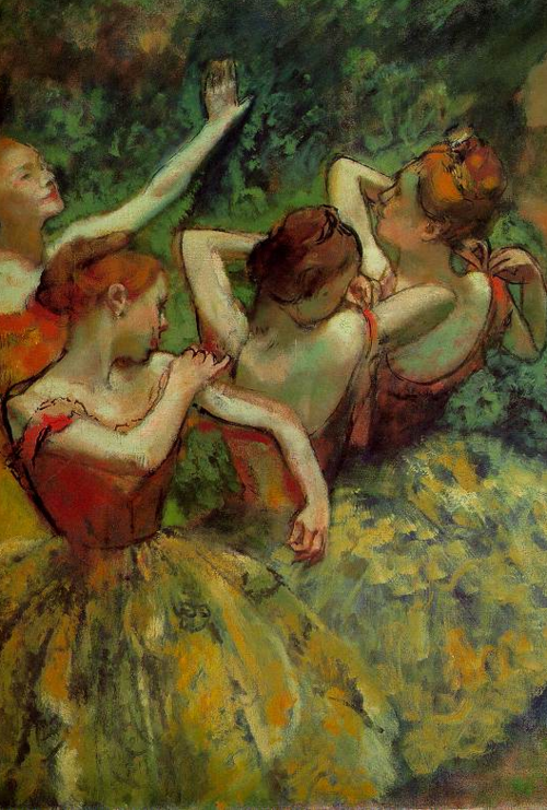 wryer:  Edgar Degas, Four Dancers