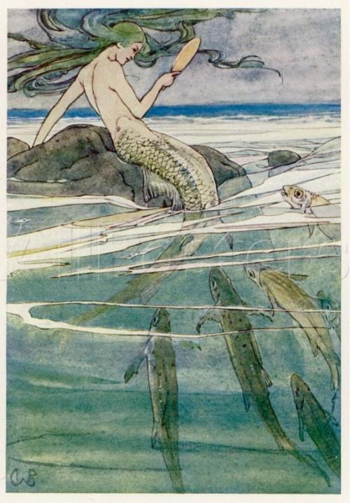 venusmilk:  Mermaid on a Rockillustration by Alice B. Woodward