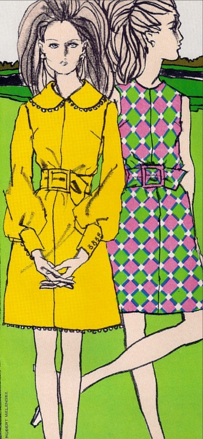 1960s Fashions, illustrator: Robert Melendez