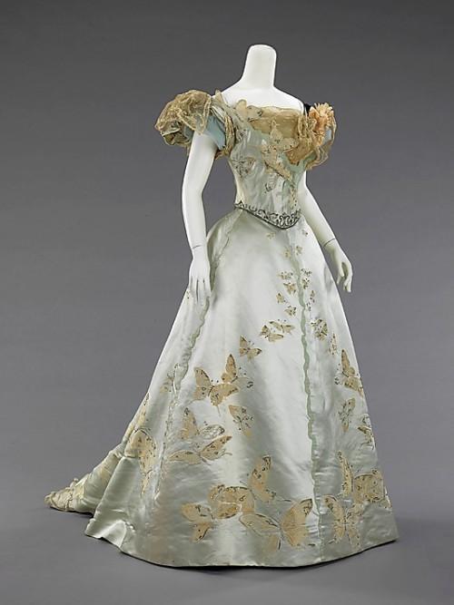 worth house of worth 1890s ballgown edwardian fashion