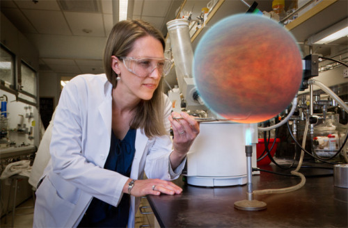 "Baked Exoplanet Gets Lab Treatment     Don't get too excited, an exoplanet hasn't really been captured from the cosmic wilds. And no, one of NASA's boffins isn't really taking a pair of tongs to the upper atmosphere of a strangely tiny ""hot-Jupiter"" being baked by a Bunsen burner. The doctored photo is actually a fun metaphor for this golden age of exoplanetary science. In particularly, it illustrates what one NASA space telescope is doing to understand the chemistry and dynamics of a particular Jupiter-sized exoplanet located some 385 light-years away.      Of course, it would be preferential if we could directly sample an exoplanet's atmosphere in a lab, but as all exoplanets orbit stars many light-years from the nearest Bunsen burner, astronomers need to think up novel techniques by which the atmospheres of exoplanets can be remotely probed. Enter the Spitzer Space Telescope, NASA's premier infrared observatory, the inadvertent hero of exo-atmospheric science!      Launched in 2003, Spitzer was designed to observe the infrared universe — particularly star-forming molecular clouds and distant galaxies — but in 2005 it became famous for detecting infrared emissions from extra-solar planets, namely HD 209458b and TrES-1. Since then, Spitzer has continued to notch up some impressive exoplanetary discoveries.      ""When Spitzer launched in 2003, we had no idea it would prove to be a giant in the field of exoplanet science,"" said Michael Werner, Spitzer project scientist at NASA's Jet Propulsion Laboratory, Pasadena, Calif. ""Now, we're moving farther into the field of comparative planetary science, where we can look at these objects as a class, and not just as individuals.""      In a new study published in the Astrophysical Journal, astronomers have used Spitzer to watch an exoplanet complete a full orbit around its host star.      Over 6 days, the hot-Jupiter HAT-P-2b passed in front of its star, behind and back in front again. Interestingly, HAT-P-2b's orbit is highly eccentric, meaning its orbital path takes it only 2.8 million miles from the star's surface at closest approach and out to 9.3 million miles at its most distant. As a comparison, the solar system's innermost planet, Mercury, orbits the sun every 88 days and doesn't come closer than 28 million miles — HAT-P-2b is therefore a roasted planet, where rapid changes in its atmosphere can be expected from extreme heating.      Fortunately, because HAT-P-2b's orbit is not only compact but also eccentric, astronomers have a wonderful opportunity to see these changes occur over a very short timescale.   Full Article Over at Discovery News"
