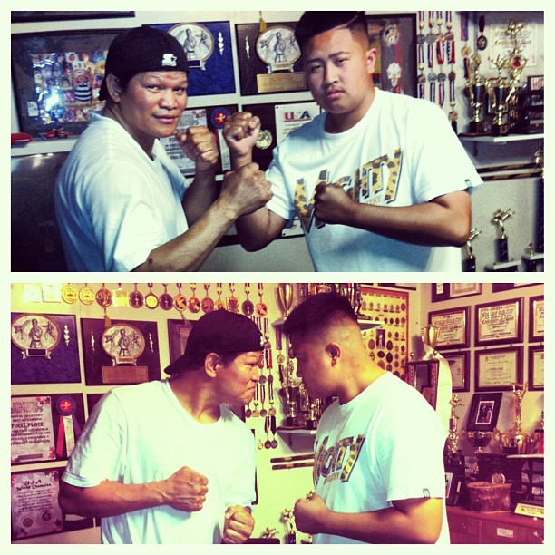 Met Luisito Espinosa One of The Best Boxers in the Philippines! He's one of the top boxers with PacMan! #lookhimup #hesabeast #chillguy #boxer #luisitoespinosa #hesbadass