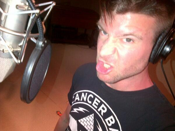 """Just recorded my first ever voice over commercials for radio. As you can see, I am enthused with my inflection."""