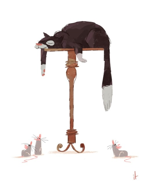 storypanda:  Cat nap | Illustration by Ian Abando