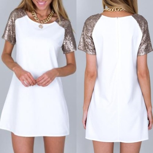 origami-dolls:  WHITE & GOLD DRESS  $39 Sizes XS, S & L available. WORLDWIDE SHIPPING  ORDER HERE