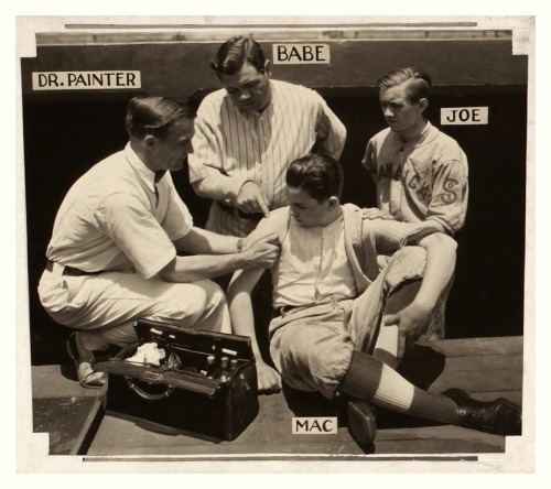 Babe Ruth Discusses Shoulder & Arm Ailments Chicago Herald-Examiner - July 28, 1930Dr. Painter was Dr. Erle V. Painter, the Yankees team doctor and chiropractor from 1930-42.